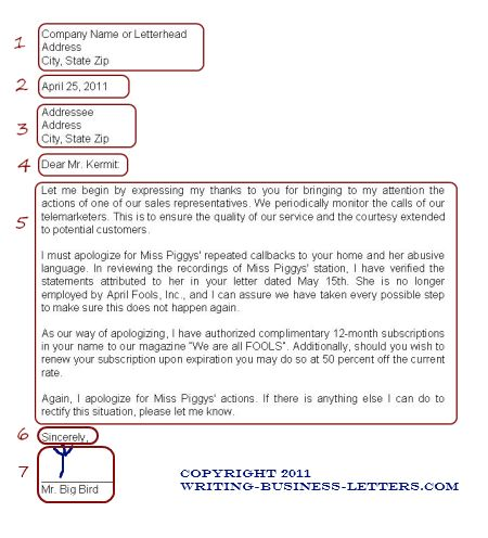 How to use the correct business letter format